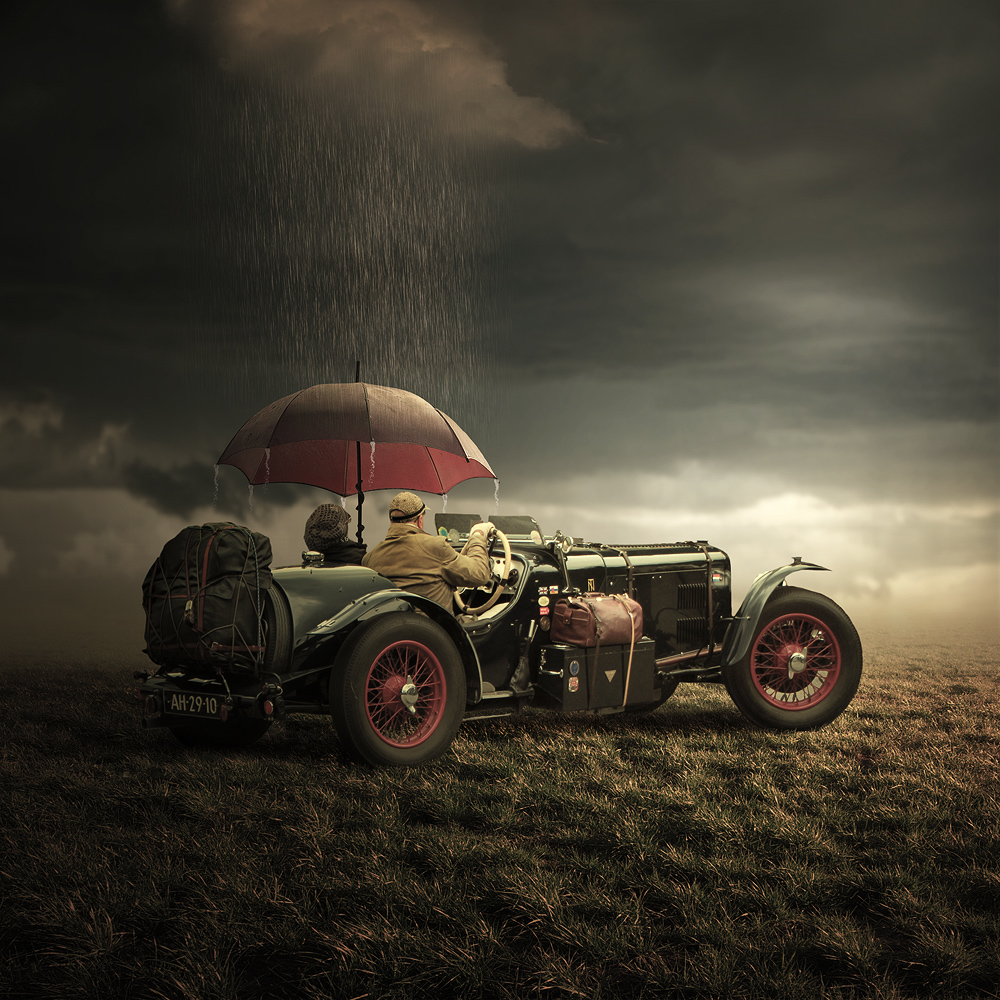 Oldtimer photo, fotomontaż, fotografia, fotografia artystyczna, digital art, photomanipulation, print