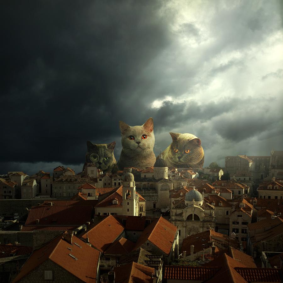 Dubrovnik, art, design, digital art, fotografia, fotografia artystyczna, fotomontaż, ozdoba domu, photography, photomontage, print, surrealism, surrealizm, sztuka, wydruk