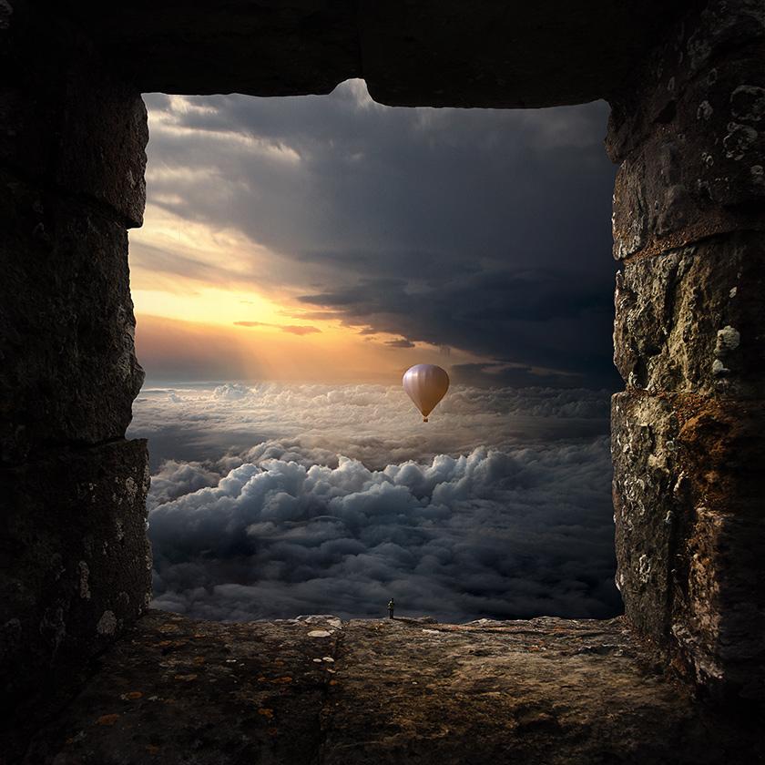Okno na świat, fotomontaż, fotografia artystyczna,surrealizm, photomanipulation, photoshop,